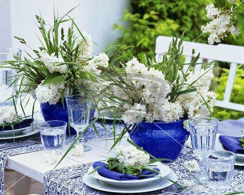 עיצובי שולחן לובשים כחול לבן לכבוד החג (3/6)
