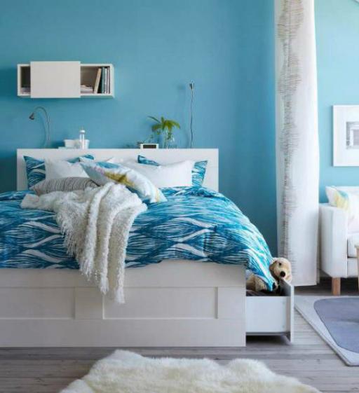 עיצוב בית כחול ולבן