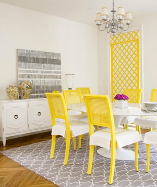 צהוב בעיצוב הבית