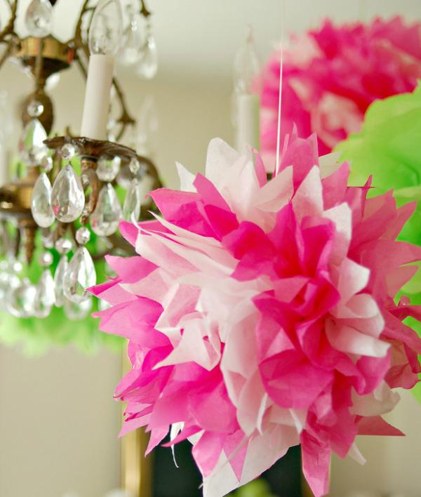 פונפון פרחים