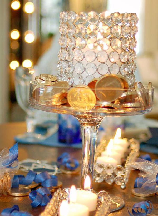 מטבעות שוקולד מעמד נרות