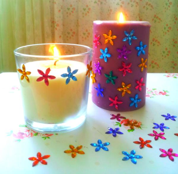 diy עיצוב נרות