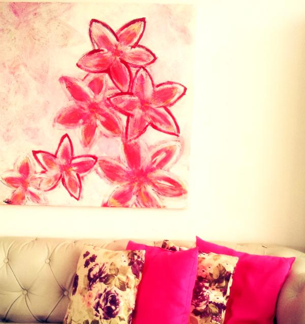 ציור אווירה פרחים