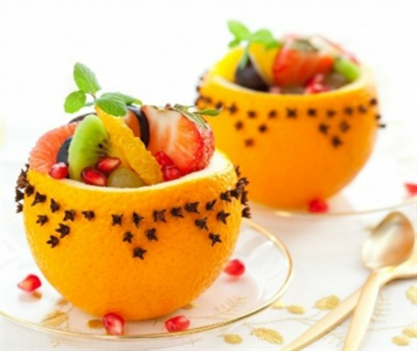 תפוזים כסלסלת פירות