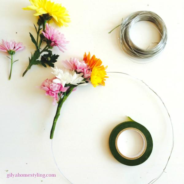 זר פרחים לראש DIY