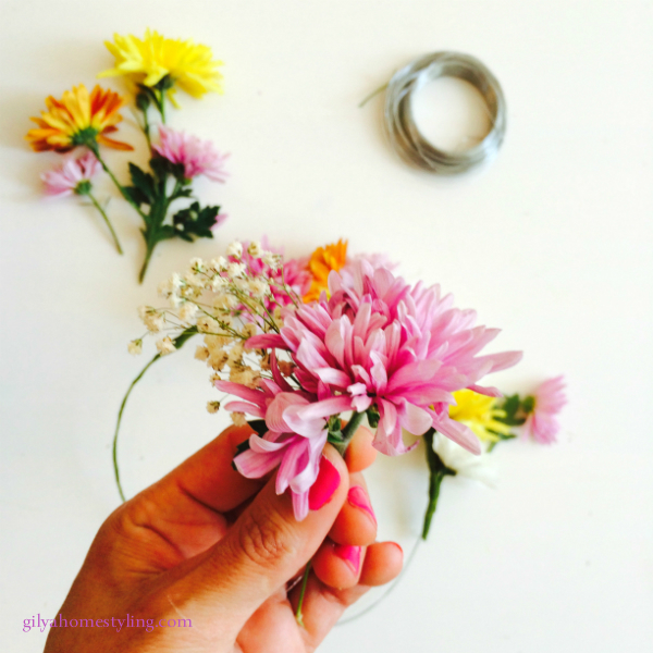 זר פרחים לראש7