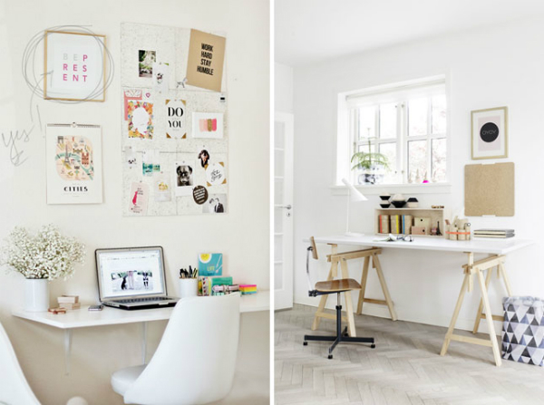 שולחן עבודה בלבן