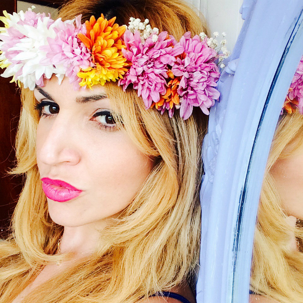 flowers headband diy