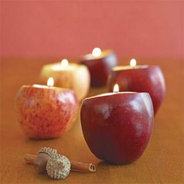 תפוחי עץ מוארים
